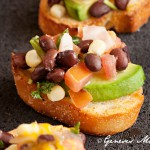 Southwest Style Bruschetta Recipe | Food Photography