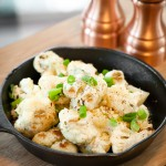 Roasted Cauliflower with Garlic, Olive Oil & Cheese